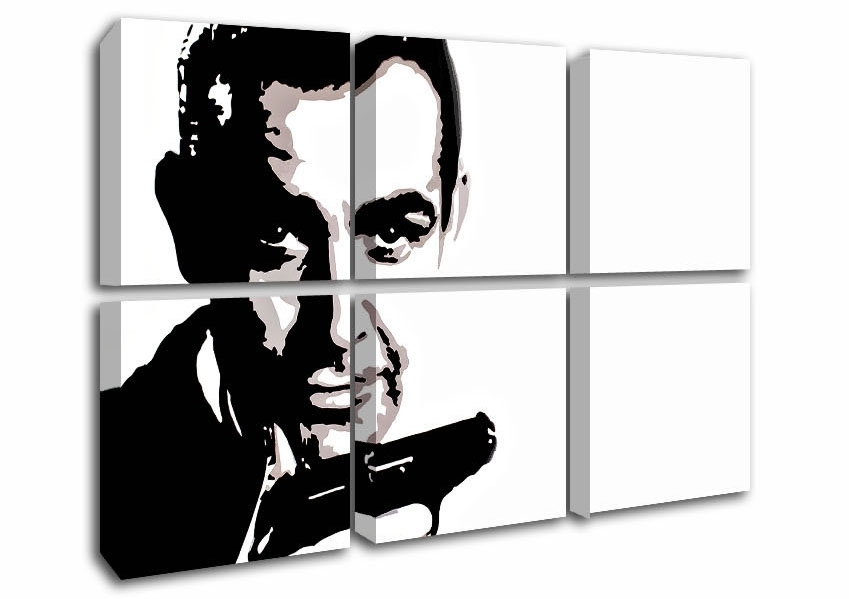 Icons Six Panel Sean Connery James Bond Icons Canvas Prints Inside James Bond Canvas Wall Art (Image 2 of 15)