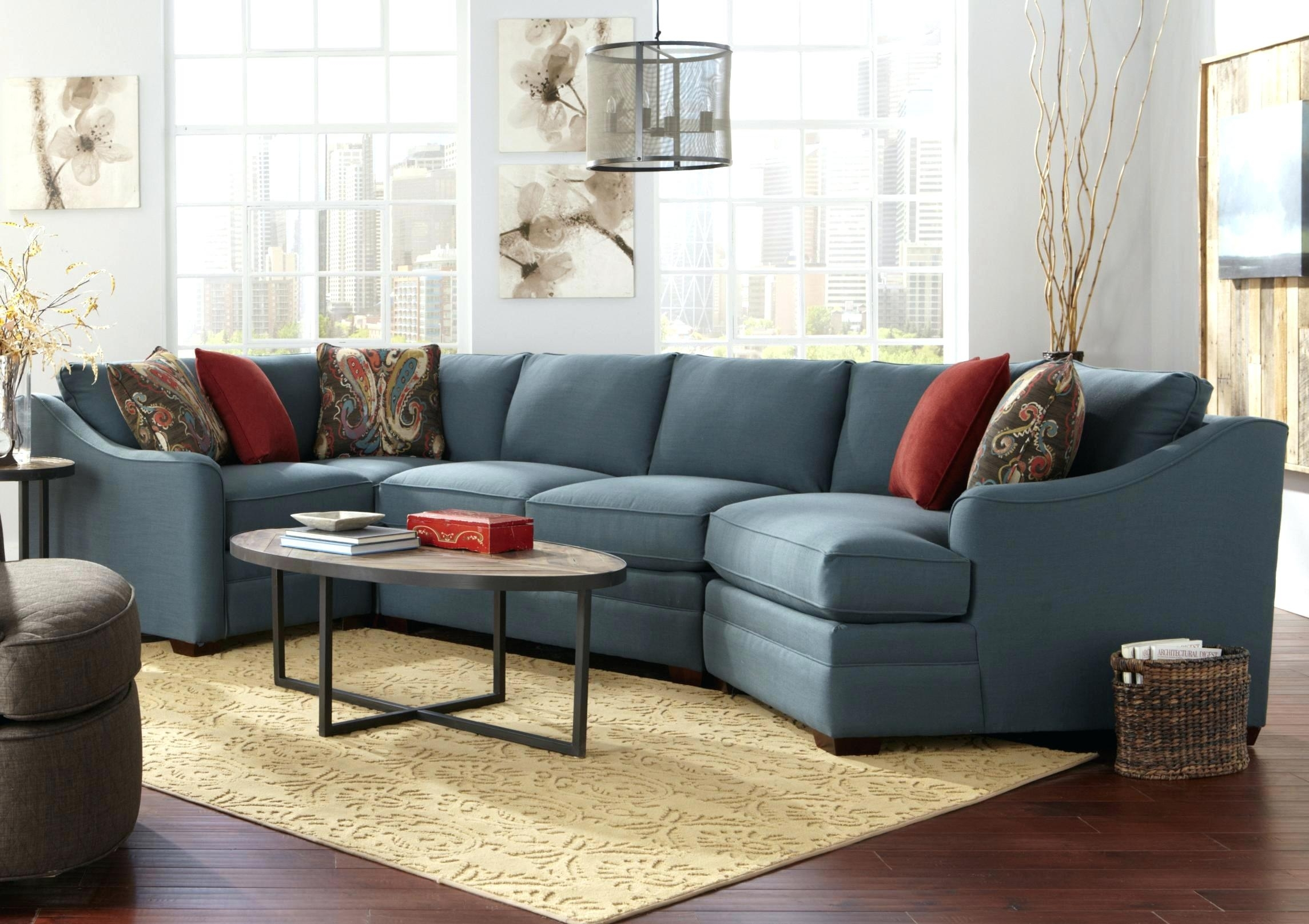 Idea Sectional Couch With Cuddler For Custom Collection Four Piece B Within Sectional Sofas With Cuddler Chaise (Image 5 of 10)
