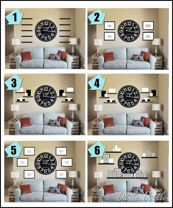 Ideas + Inspiration For Creating A Gallery Wall In Any Room Of The In Clock Wall Accents (Image 11 of 15)