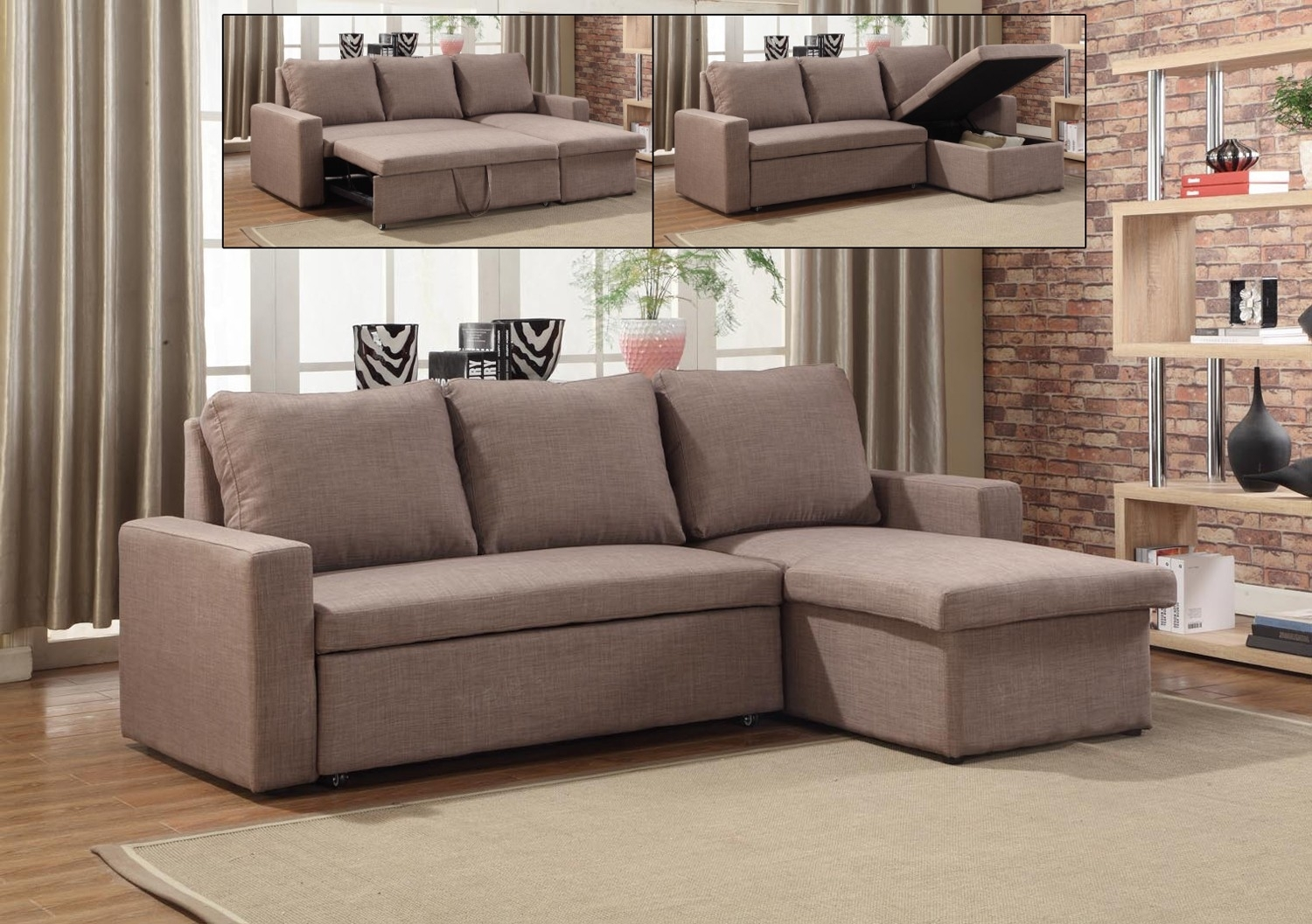 If 9001  Sectional Sofa Bed With Reversible Chaise – Lowest Price In Sectional Sofas At Brampton (Image 3 of 10)