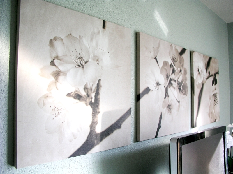 Ikea Art Cherry Blossoms In Sepia – Found Recently For (View 4 of 15)