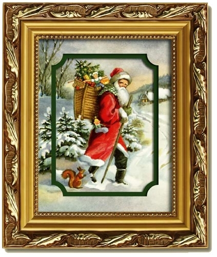 Image Detail For Merck Familys Old World Christmas Woodland Santa With Regard To Christmas Framed Art Prints (View 15 of 15)