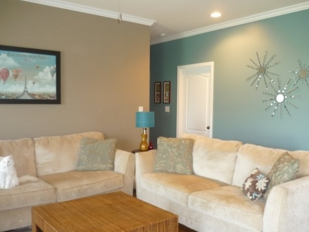 Image Detail For  Tan And Blue Living – Living Room Designs Throughout Wall Accents For Tan Room (Image 13 of 15)
