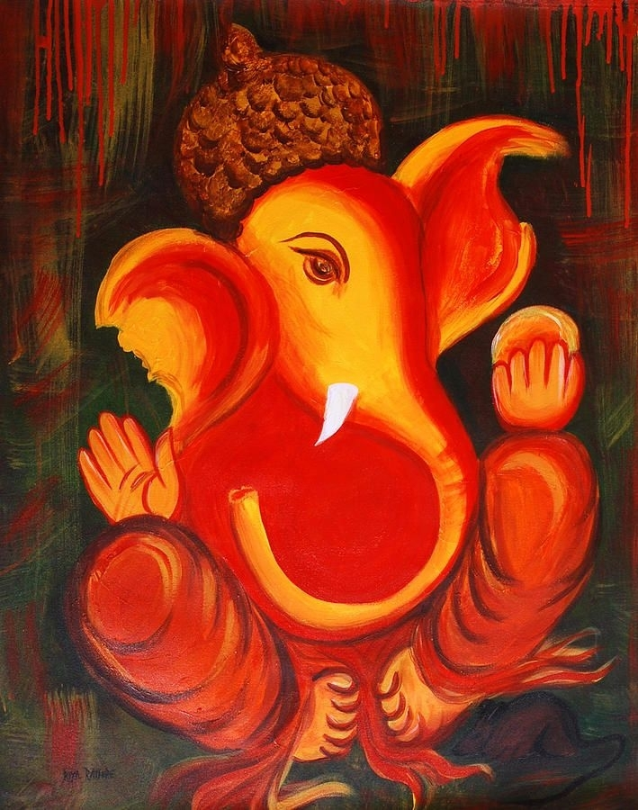 Image Result For Ganesha Abstract Painting | Ganesha | Pinterest For Abstract Ganesha Wall Art (View 7 of 15)
