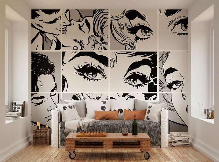 Image Result For Wallpaper On Furniture | Accent Walls | Pinterest Inside Murals Wall Accents (Image 8 of 15)