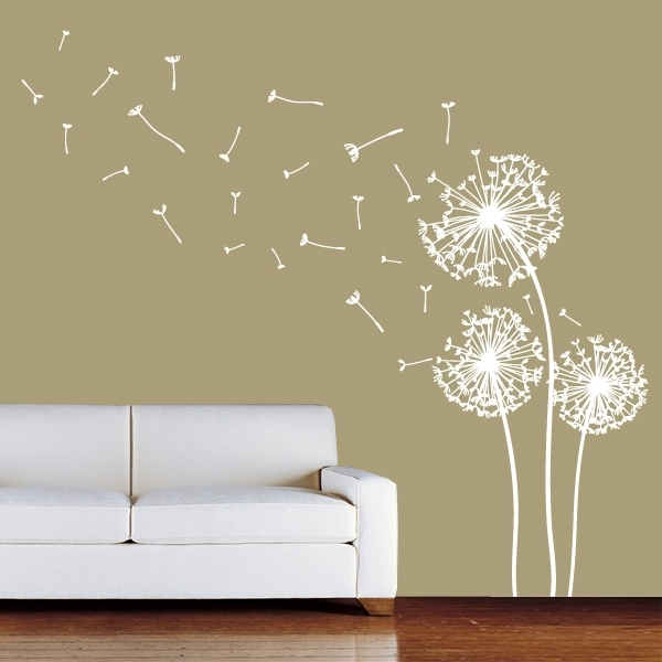 Images If Dandelions | Images Of Show All Wall Stickers Dandelion With Wall Accents Stickers (Image 8 of 15)