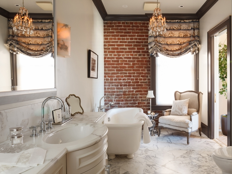 Impressive Bathroom Designs With Brick Walls Pertaining To Exposed Brick Wall Accents (View 10 of 15)