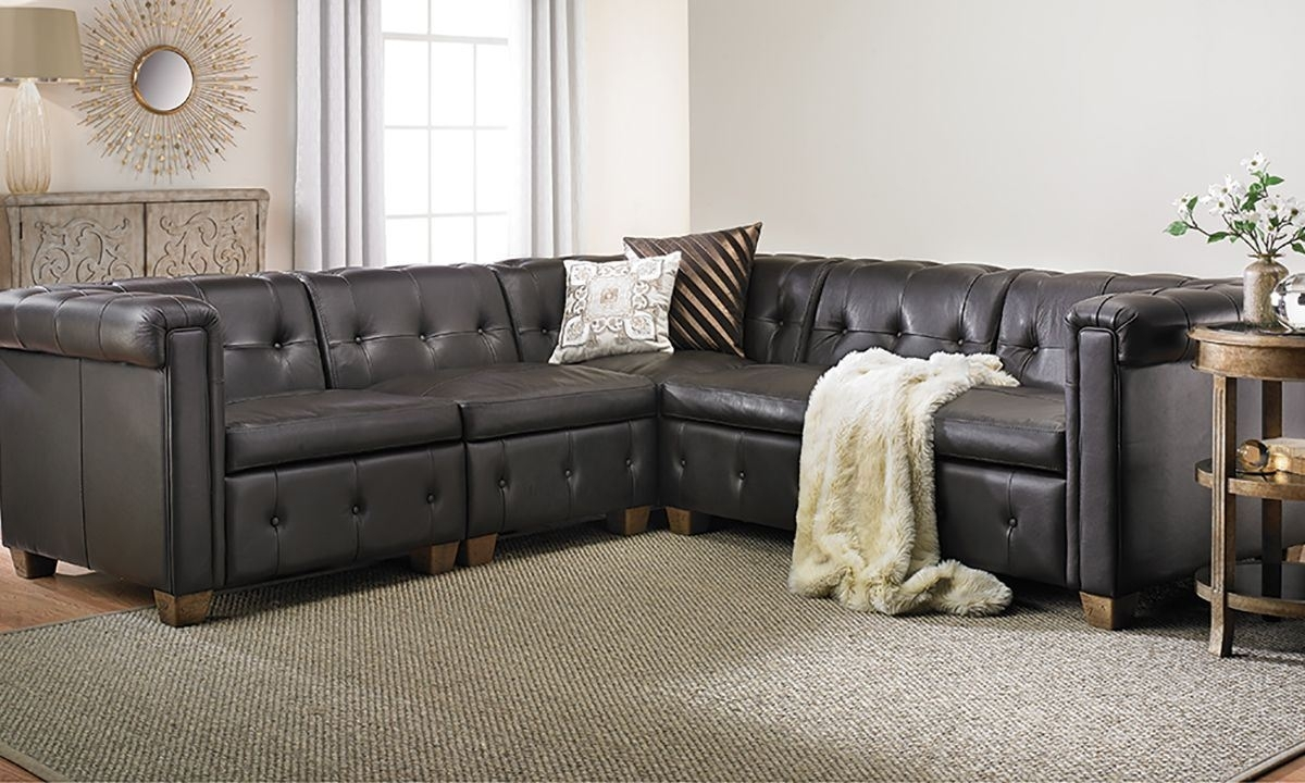In Pella Trapuntata Leather Sectional Sofa | The Dump Luxe Furniture For Sectional Sofas At The Dump (View 9 of 10)