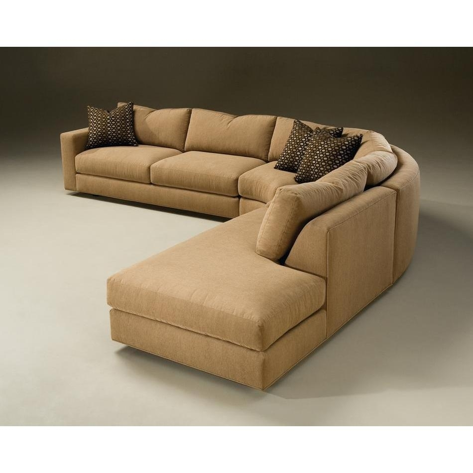 Incredible Small Leather Sofa With Chaise Rounded Sectional Sofa Throughout Rounded Corner Sectional Sofas (View 3 of 10)