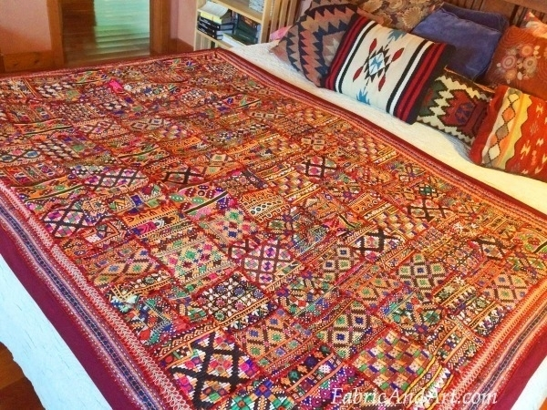 Indian Art, Tribal Wall Hangings, Sari Quilts pertaining to Handmade Textile Wall Art