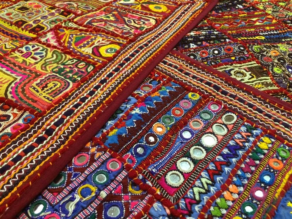 Indian Tribal Wall Hangings | Costumes & Fabrics That Are Intended For Asian Fabric Wall Art (View 6 of 15)