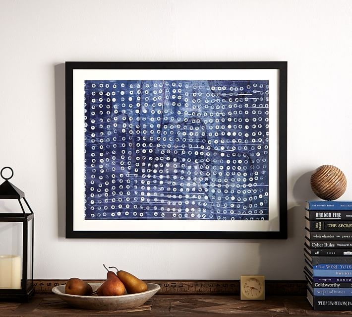 Indigo Dots Abstract Framed Print | Pottery Barn For Abstract Framed Art Prints (View 15 of 15)