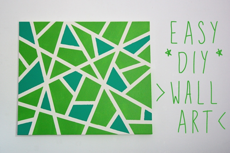 Ink + Adventure: Easy Canvas Wall Art Project With Regard To Diy Canvas Wall Art (Image 13 of 15)