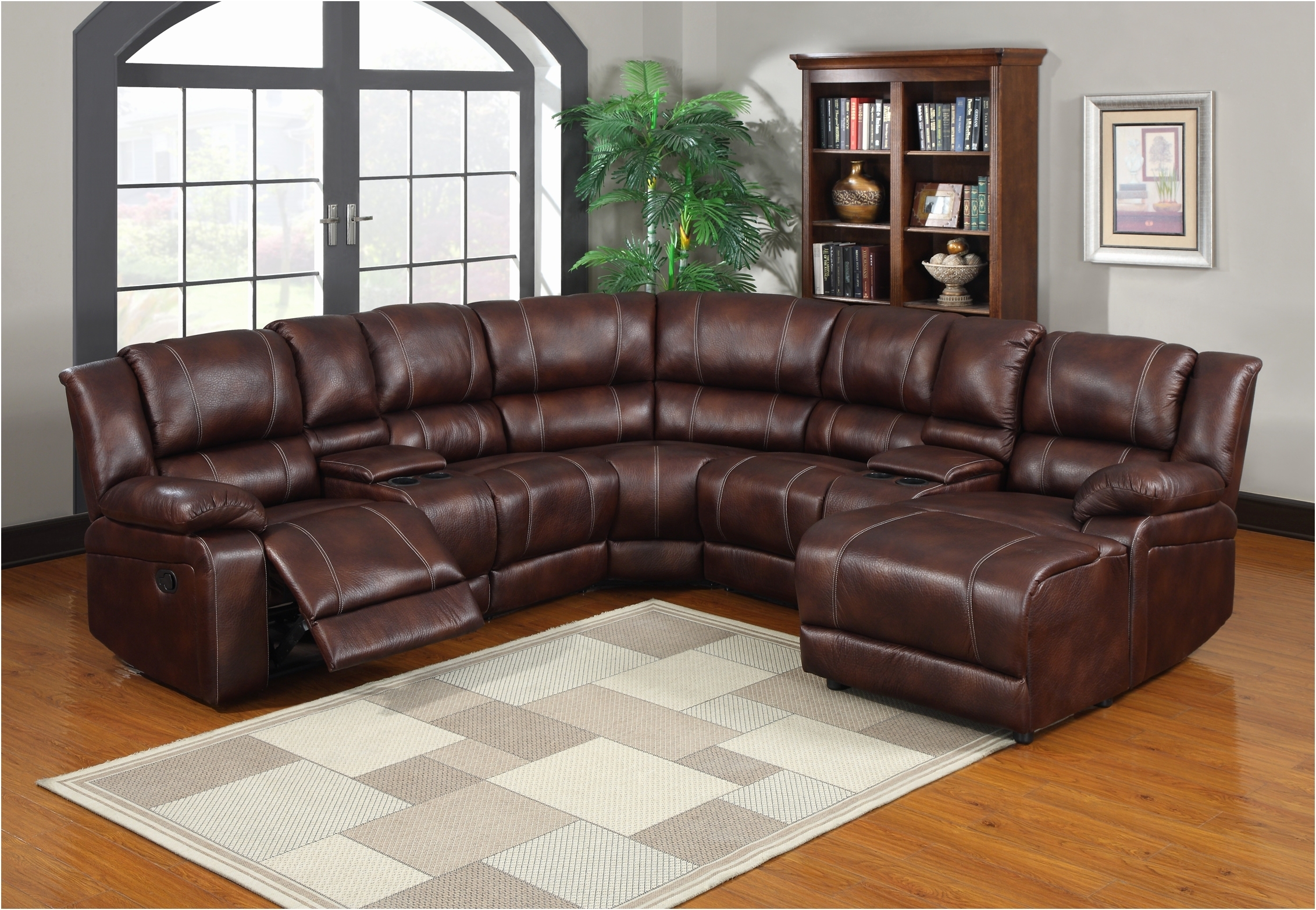 Inspirational Sectional Recliner Sofa With Cup Holders New Inside Sectional Sofas With Cup Holders (Image 2 of 10)