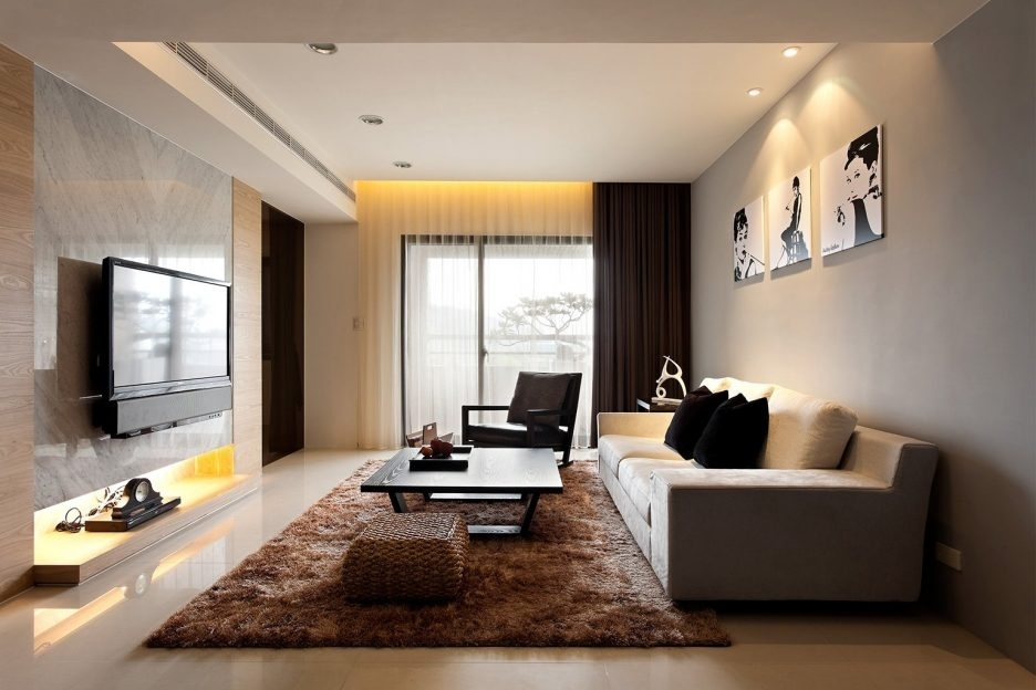 Inspiring Living Room Decorating White Furniture Sofa Set Black With Wall Accents For L Shaped Room (Image 8 of 15)