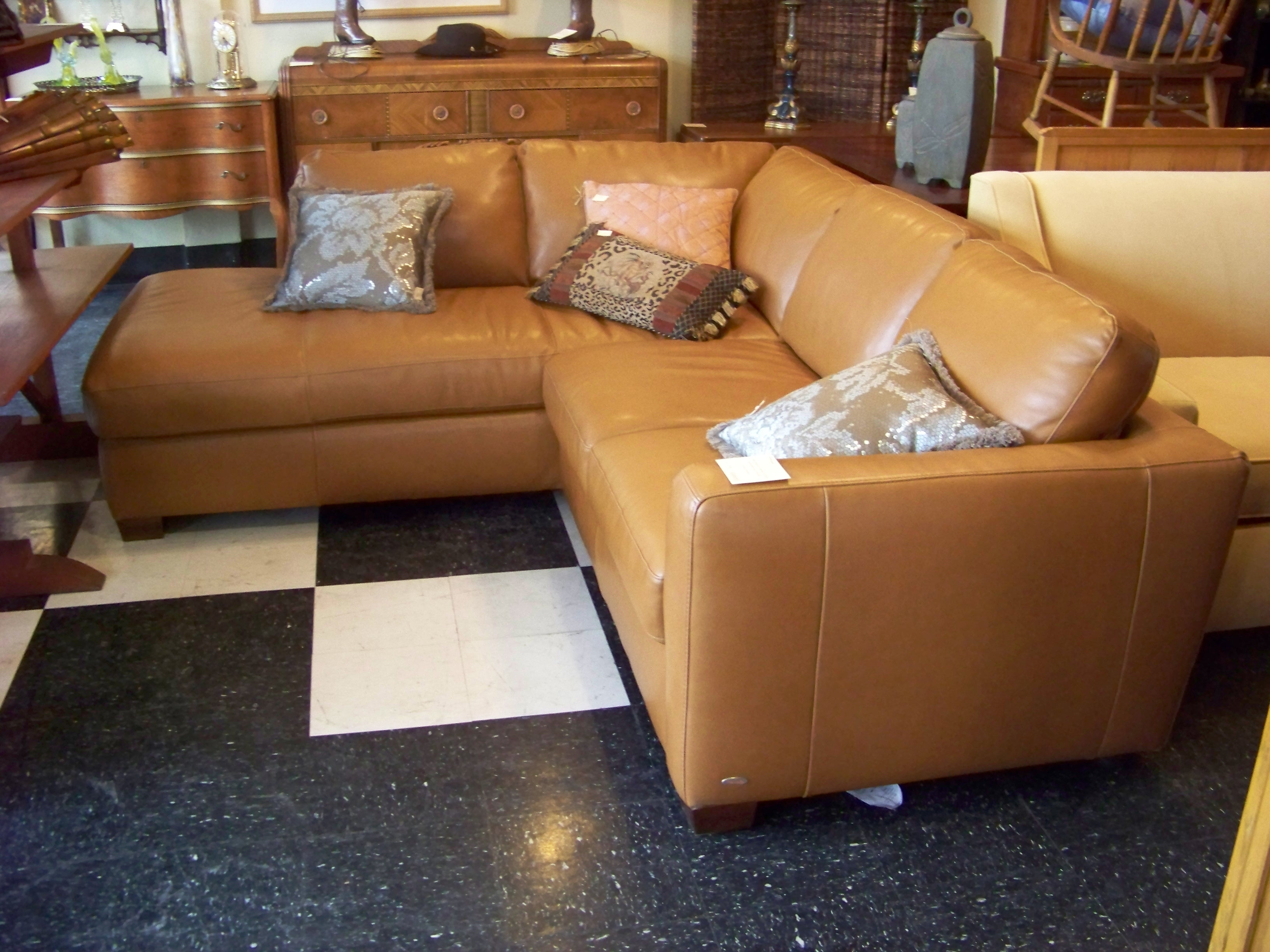 Interior Small Sectional Sofa White Seater Used Leather Colored throughout Camel Colored Sectional Sofas