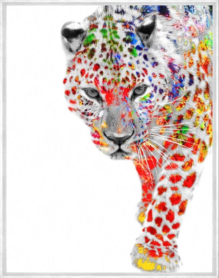 Interior Wall Art :: Canvas Print Wall Decor :: Animal Art :: My With Rainbow Canvas Wall Art (Image 6 of 15)