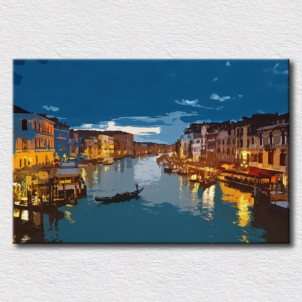 Italy City Canvas Pictures Oil Painting Modern Canvas Art City For Italy Canvas Wall Art (Image 10 of 15)