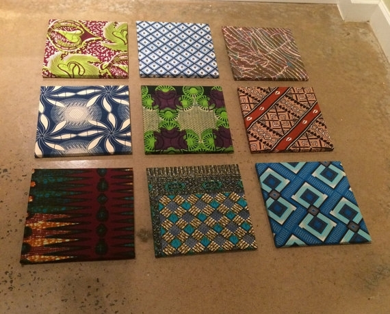 Items Similar To African Fabric Wall Art Installation On Etsy With Regard To African Fabric Wall Art (View 4 of 15)