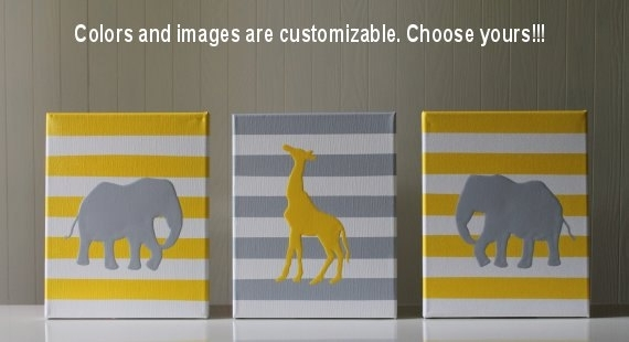 Items Similar To Jungle Nursery Wall Art Jungle Nursery Decor Inside Safari Canvas Wall Art (View 11 of 15)