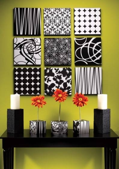 It's Written On The Wall: Diy Wall Art:paper, Styrofoam, Canvas Throughout Black And White Fabric Wall Art (View 2 of 15)