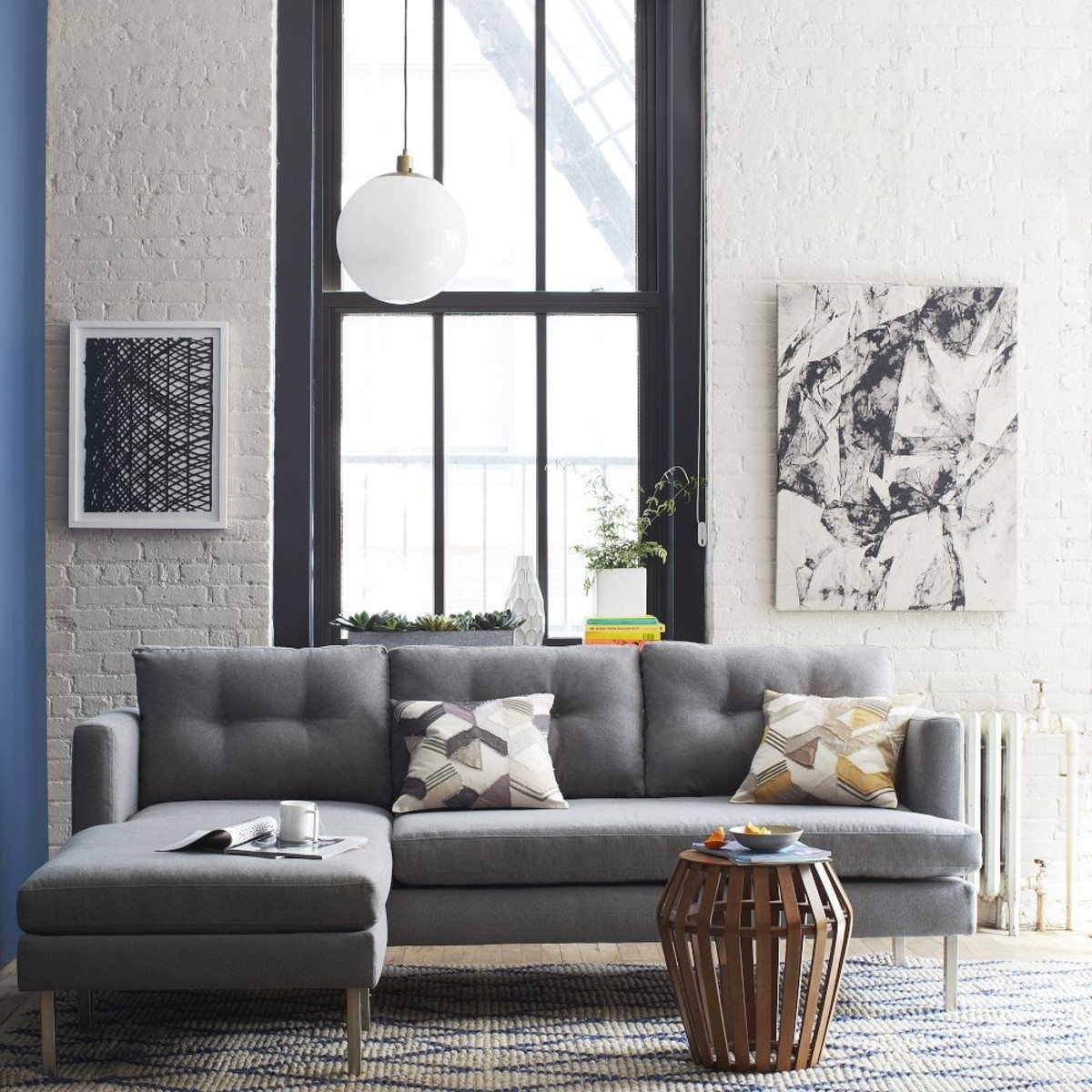 Jackson 2 Piece Chaise Sectional – Heather Grey Aud1809 | West Elm Within West Elm Sectional Sofas (Image 4 of 10)