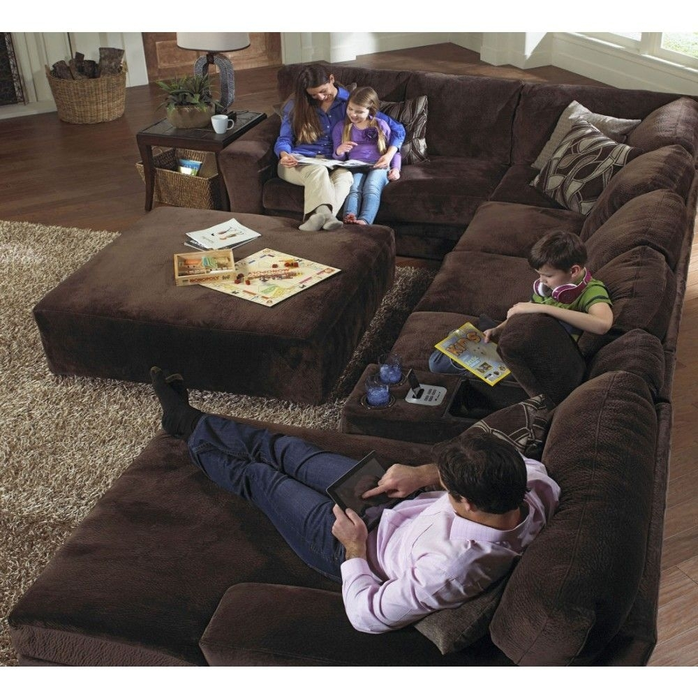 Jackson Everest 4-Piece Plush Sectional Sofa Set, 4377-62/30/76/88 throughout Plush Sectional Sofas