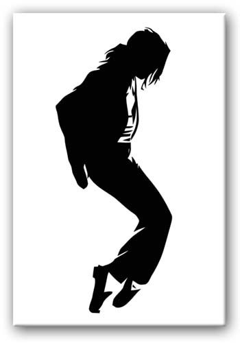 Jackson Silhouette Canvas Throughout Michael Jackson Canvas Wall Art (Image 6 of 15)