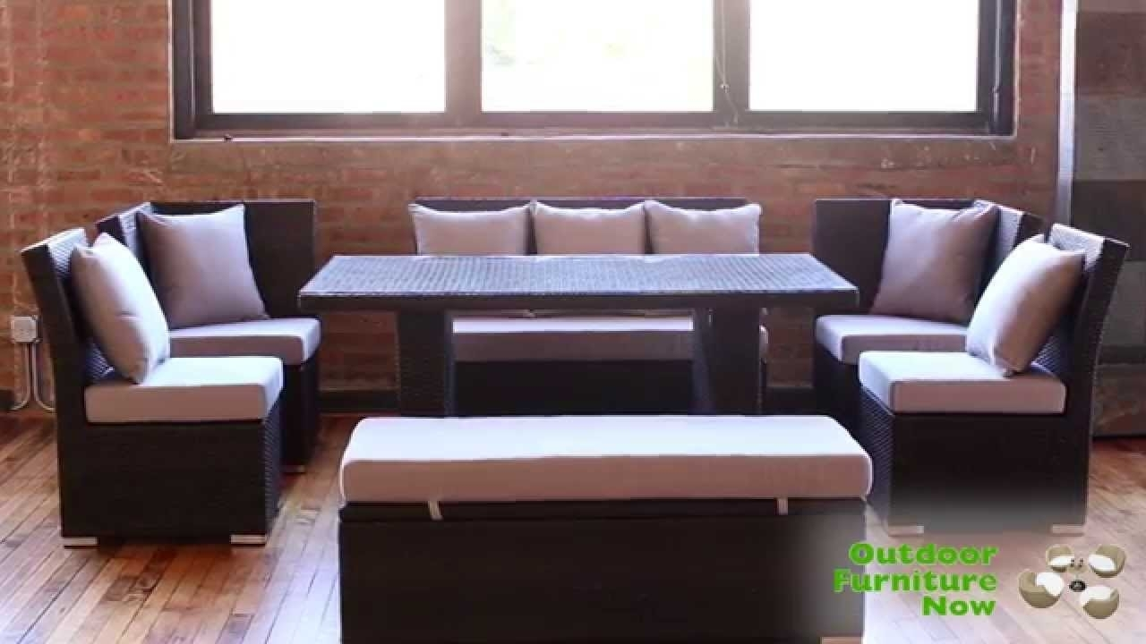 Jamaican Multipurpose Sectional Dining And Sofa Set | Wicker Patio In Jamaica Sectional Sofas (Image 6 of 10)