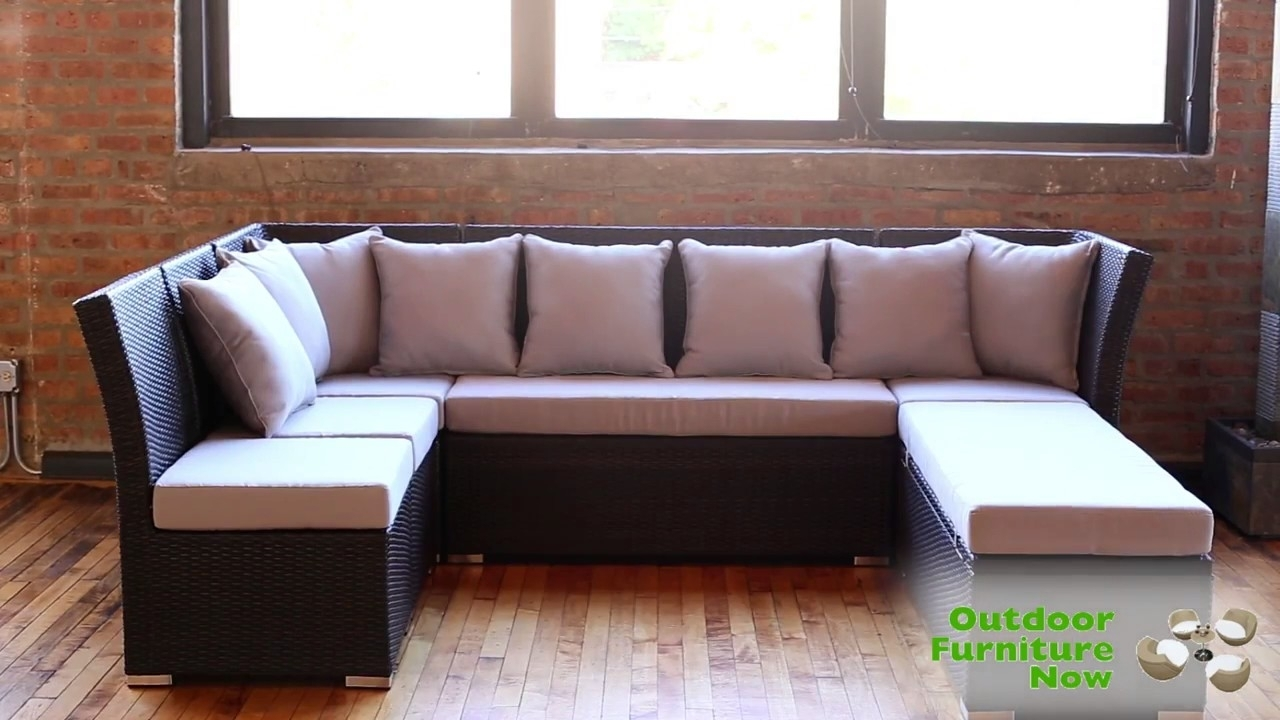 Jamaican Multipurpose Sectional Dining And Sofa Set Wicker Patio Intended For Jamaica Sectional Sofas (Image 7 of 10)