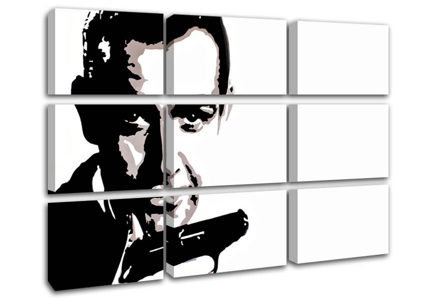 James Bond Sean Connery People 9 Panel Canvas 9 Panel Set Canvas In James Bond Canvas Wall Art (View 3 of 15)
