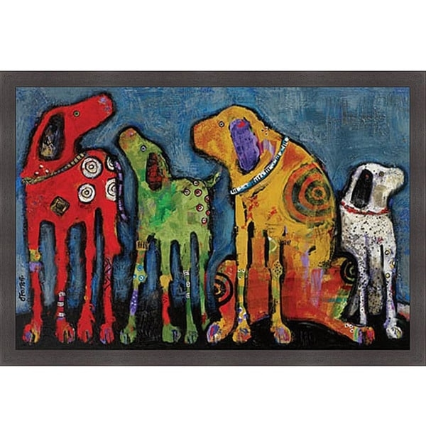 Jenny Foster 'best Friends' Framed Print Art – Free Shipping Today Within Dog Art Framed Prints (Image 9 of 15)