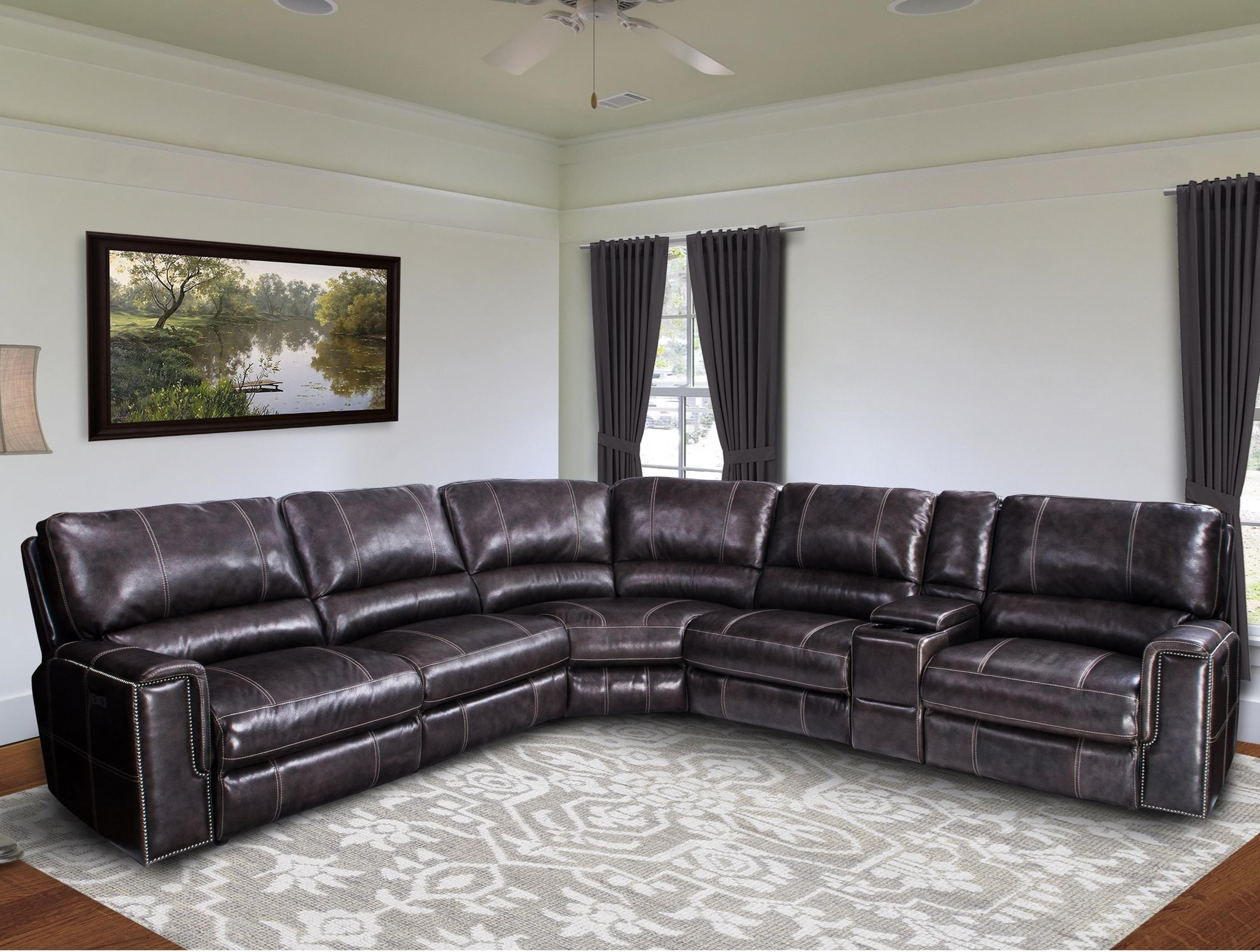 Jerome Casual Power Reclining Sectional Sofa With Power Headrests Regarding Jerome's Sectional Sofas (View 3 of 10)