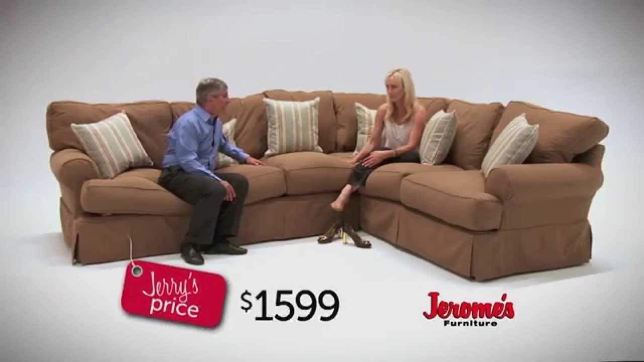 Jeromeu0027s Furniture Classic Slipcover Sectional U2013 Youtube Within  Jeromeu0026#039;s Sectional Sofas (