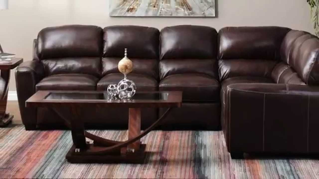 Jerome's Furniture – Tuscany Leather Sectional – Youtube Within Jerome's Sectional Sofas (Image 3 of 10)