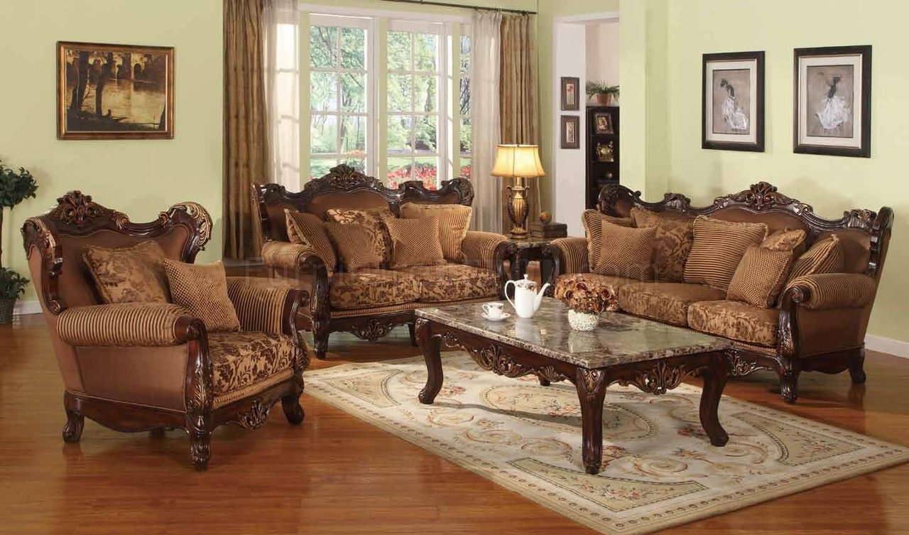 Jessica Traditional Sofa In Fabric W/optional Items Pertaining To Traditional Sofas (Image 5 of 10)