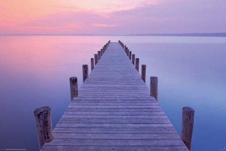 Jetty At Sunrise, As Night Turns To Day - Popartuk intended for Jetty Canvas Wall Art