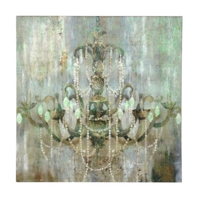Jeweled Chandelier Canvas Art Print | Chandeliers, Master Bedroom For Chandelier Canvas Wall Art (View 2 of 15)