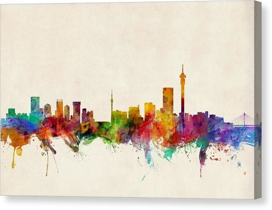 Johannesburg Canvas Prints | Fine Art America Regarding Johannesburg Canvas Wall Art (View 9 of 15)