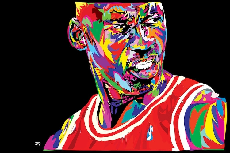 Jordan Portrait Canvas Art Printtechnodrome1 | Icanvas In Michael Jordan Canvas Wall Art (Image 7 of 15)