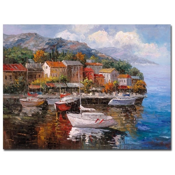 Joval 'at Sea' Canvas Wall Art - Free Shipping Today - Overstock inside Joval Canvas Wall Art