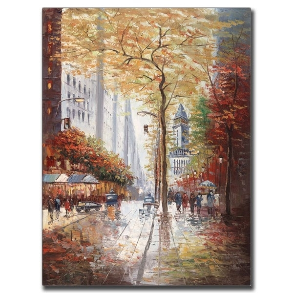 Joval 'french Street Scene Ii' Canvas Wall Art - Free Shipping intended for Joval Canvas Wall Art