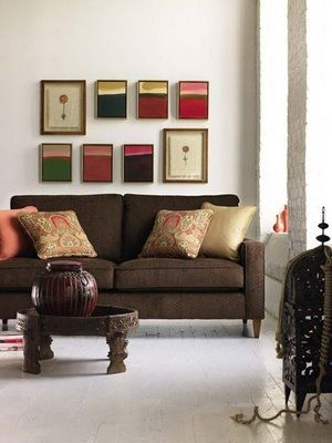 Joy Of Decor: Decorate Around Brown Sofa With Peach And Beige Inside Brown Couch Wall Accents (Image 7 of 15)