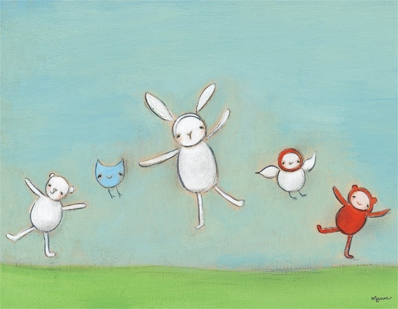 Jump For Joy Canvas Wall Artoopsy Daisy – Rosenberryrooms Throughout Joy Canvas Wall Art (Image 10 of 15)