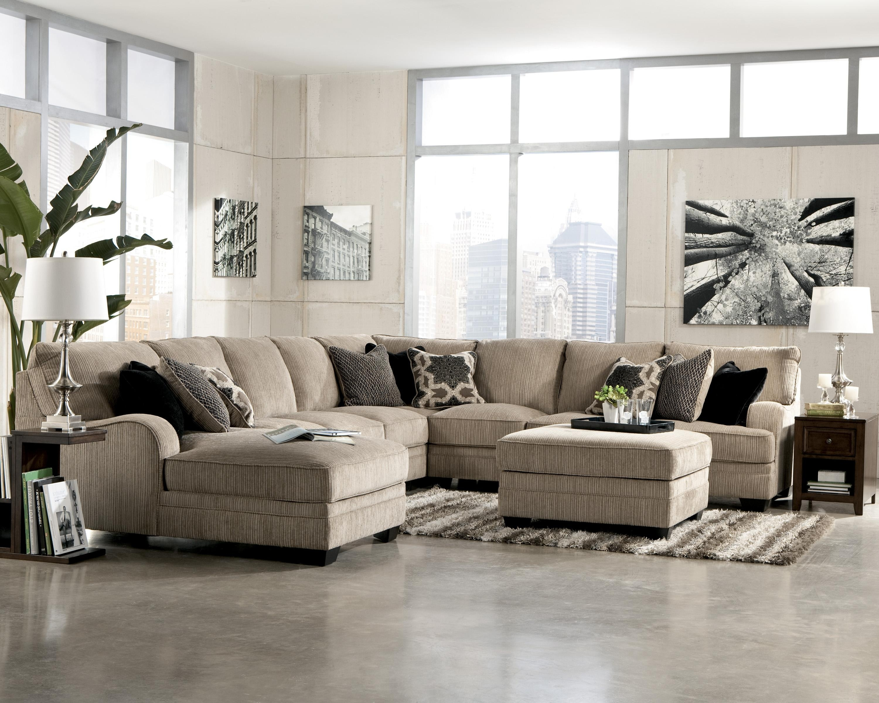 Katisha – Platinum 5 Piece Sectional Sofa With Left Chaise For Jackson Ms Sectional Sofas (Image 5 of 10)