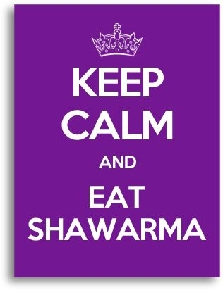 Keep Calm And Eat Shawarma Canvas Wall Art, Violet | Home Decor For Keep Calm Canvas Wall Art (Image 8 of 15)