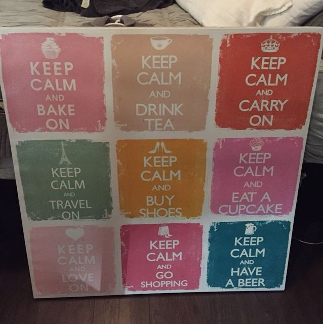 Keep Calm Canvas Wall Art, Home & Furniture On Carousell Intended For Keep Calm Canvas Wall Art (Image 11 of 15)