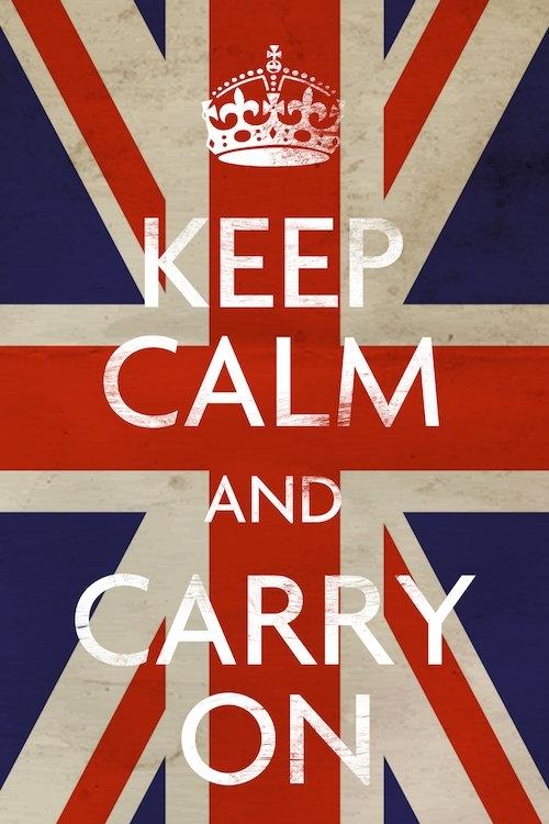 Keep Calm & Carry On (British Flag) Canvas Artwork | Icanvas Within Keep Calm Canvas Wall Art (Image 7 of 15)