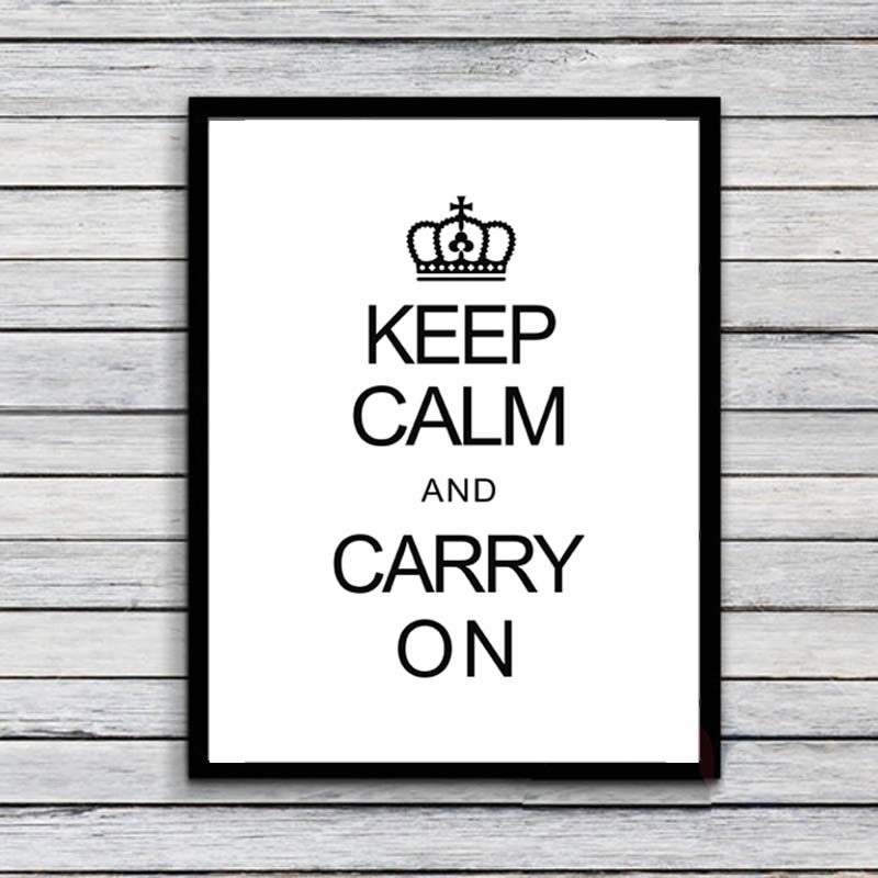 Keep Calm Quote Canvas Art Print Painting Poster, Wall Pictures Regarding Keep Calm Canvas Wall Art (View 7 of 15)