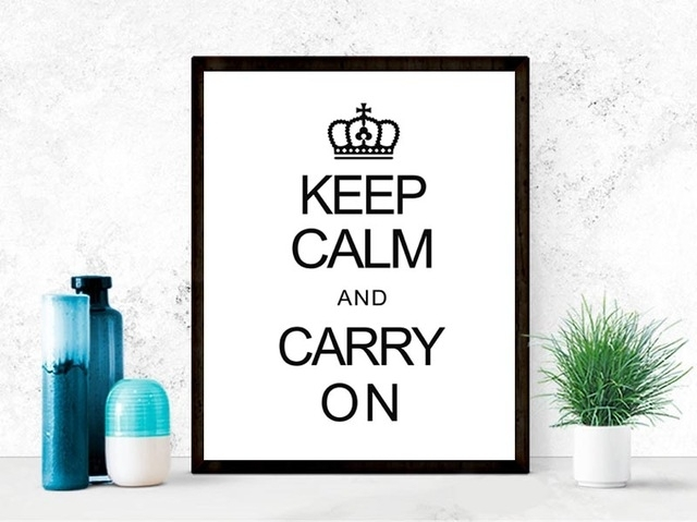 Keep Calm Quote Canvas Art Print Painting Poster, Wall Pictures within Keep Calm Canvas Wall Art